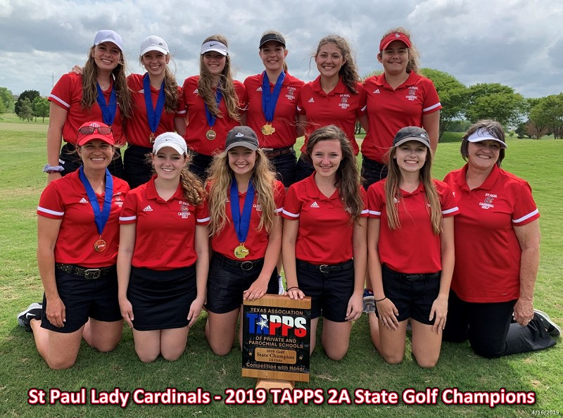 St. Paul Lady Cardinals - 2019 TAPPS 2A Golf Champions